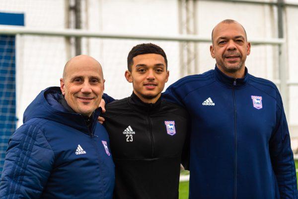 Nino with Jason Gazelle with son Andre, U20 England International 2017 European Champions*